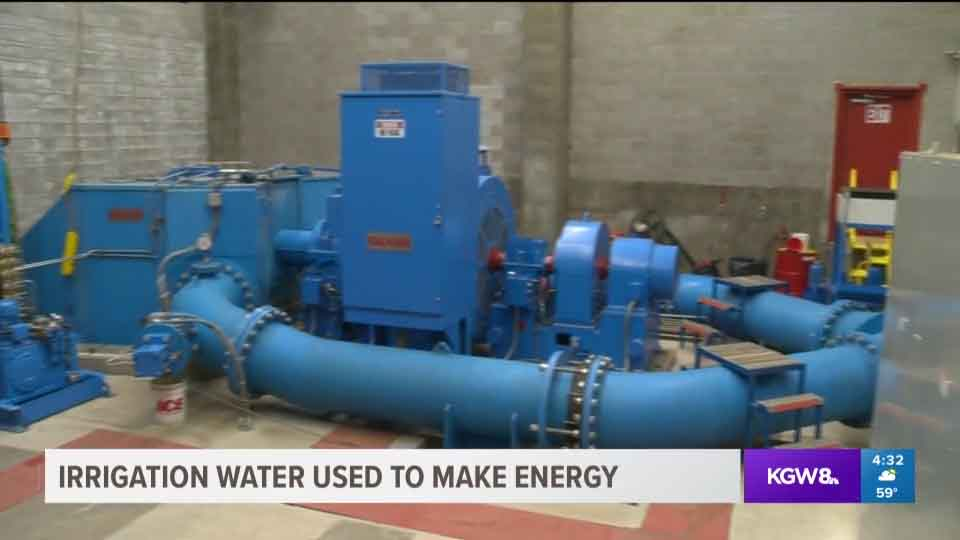 Irrigation water used to make energy